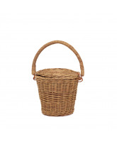 Natural Big Apple basket - small