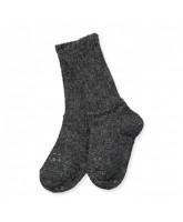 Dark grey non-slip alpaca socks