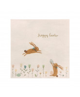 Napkins - Happy easter field
