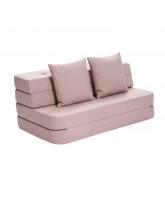 3 fold couch - soft rose