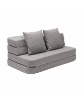 3 fold couch - multi grey
