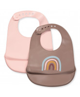 2 pack rainbow bib