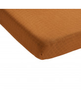 Brown bed sheet