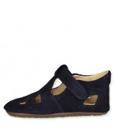 Navy slippers - suede