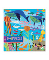 Puzzle 64 pcs - Treasures of the sea