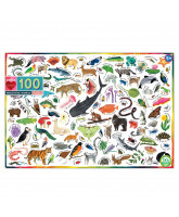 Puzzle 100 pcs - Animals in the world