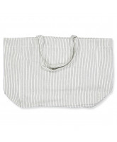 Black pin stripe tote bag