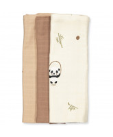 Organic 3 pack panda muslin cloth