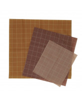 3 pack cotton wraps with beeswax