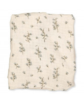 Bluebell muslin changing cushion cover