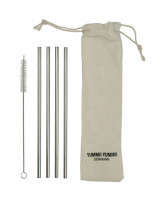 4 pack reusable straws straight