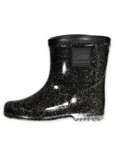 Black/gold wellies
