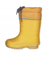 Pale gold thermo winter wellies