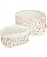 Organic 2 pack quilted baskets
