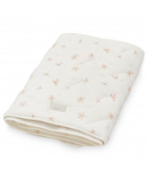 Organic windflower cream baby blanket