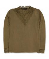Military olive LS t-shirt