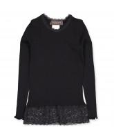 Organic black LS t-shirt