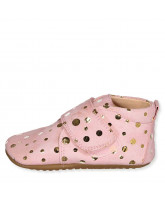 Rose/gold slippers