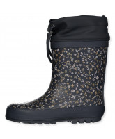 Flowered thermo winter wellies