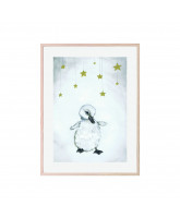 The beautiful duckling poster 30x40 cm