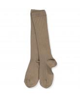 Olive green rib knee socks