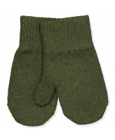 Military olive wool mittens