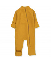 Golden brown wool fleece suit