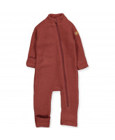 Madder brown wool fleece suit