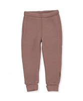 Marron brown wool fleece pants