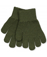 Military olive wool gloves