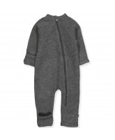 Anthracite melange wool fleece suit