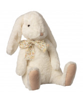 X-large fluffy bunny - hvid
