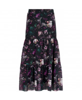 Floral maxi mesh skirt