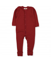 Red wool playsuit
