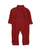 Red wool fleece suit