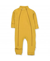Yellow wool fleece suit