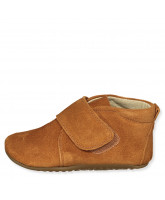 Camel suede slippers
