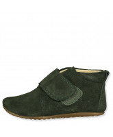 Green suede slippers