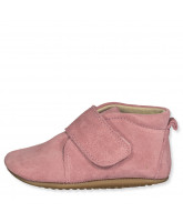 Rose suede slippers