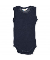 Navy wool bodysuit