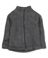 Anthracite melange wool fleece jacket