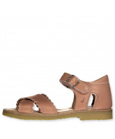 Sandals open toe Cross-over scallop