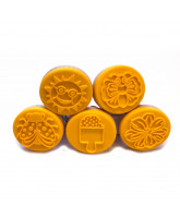 5 pack stamps for modeling clay - summer
